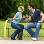 Paar im Streit Liebe loslassen