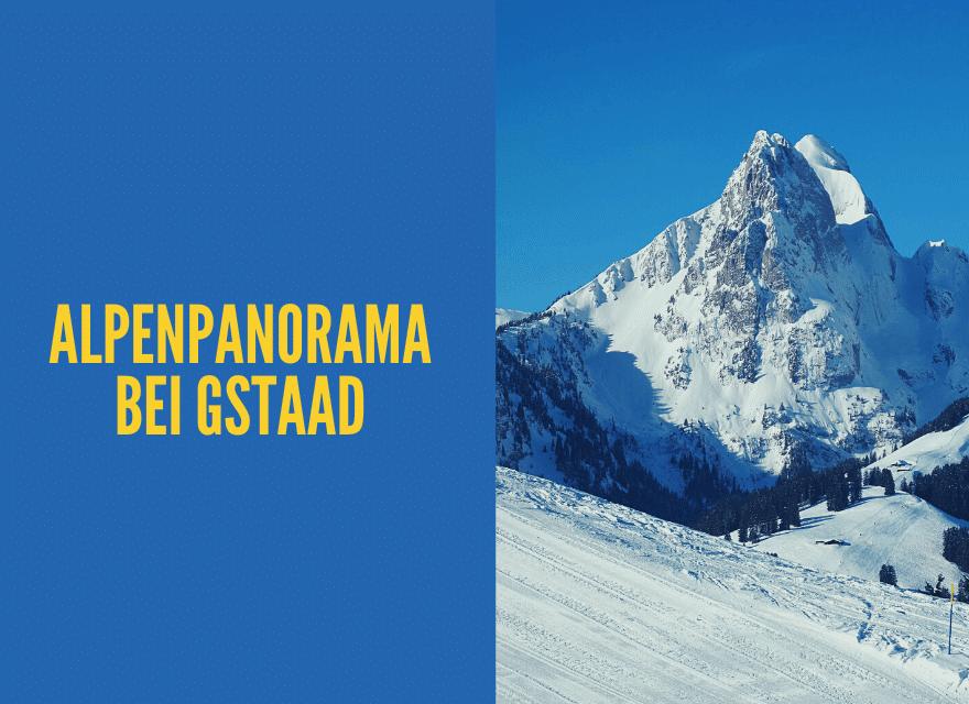 Alpenpanorama bei Gstaad