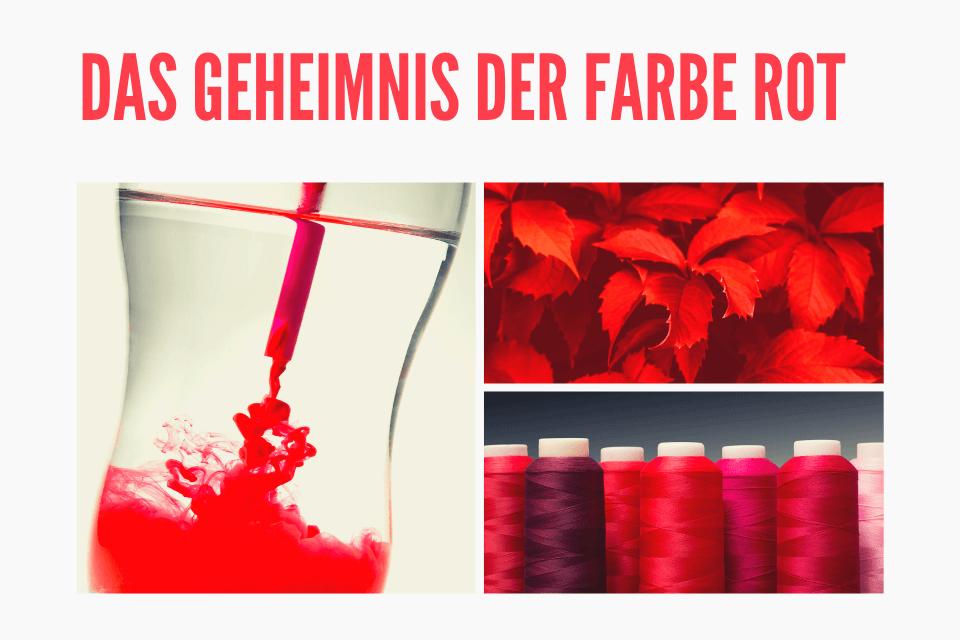 Verschiedene rote Bilder - Das Geheimnis der Farbe Rot