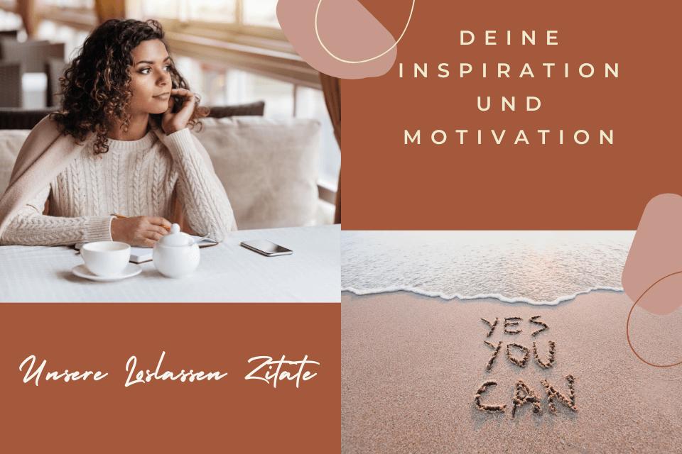 Frau sitzt bei Kafee in Gedanken versunken - Deine Inspiration und Motivation