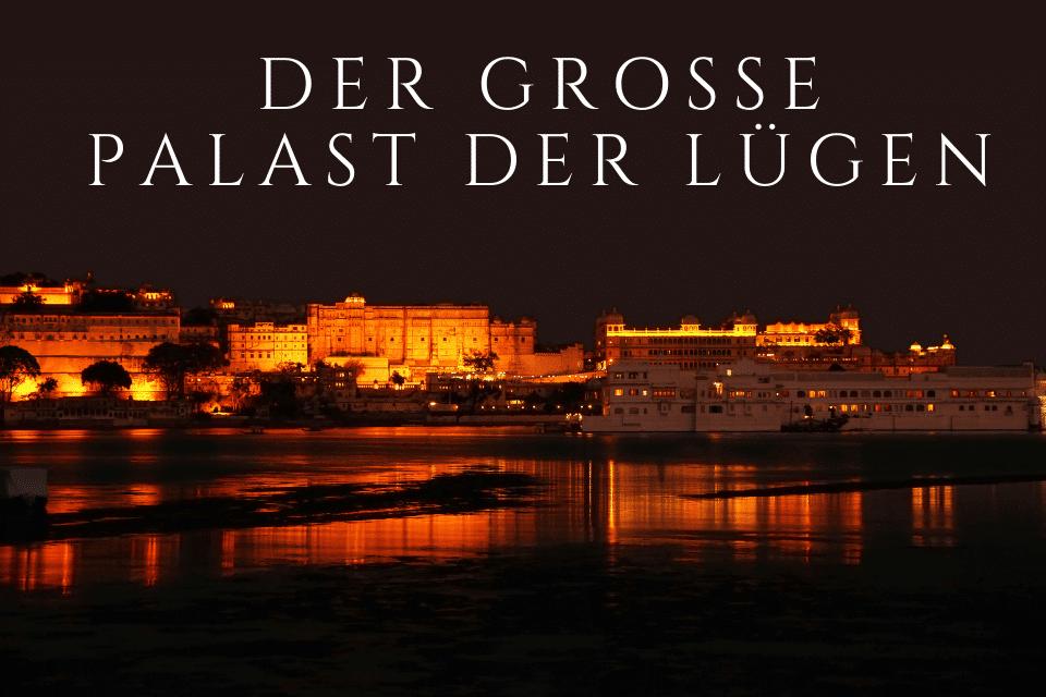 Palast bei Nacht als Symbol für die Geschichte - Der grosse Palast der Lügen