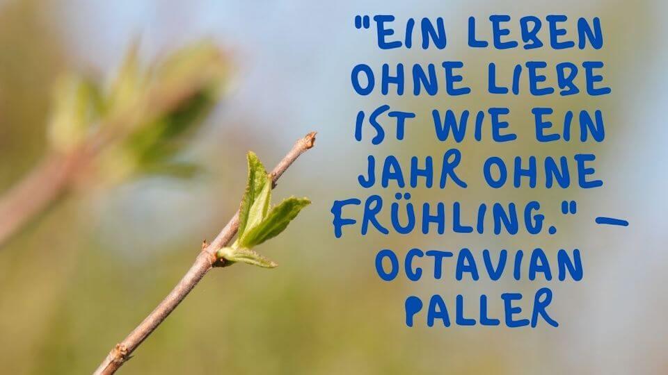 Ein Leben ohne Liebe ist wie ein Jahr ohne Frühling. - Octavian Paller