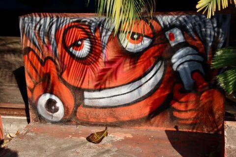 Buntes Grafiti aus Theihland - Heute ist Loi Krathong in Thailand