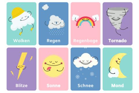 Humor Regen | Wenn es regnet - loslassen - Smylis von Rgen, Wolke, Regenbogen, Tornado, Blitze, Sonne, Schnee und Mond