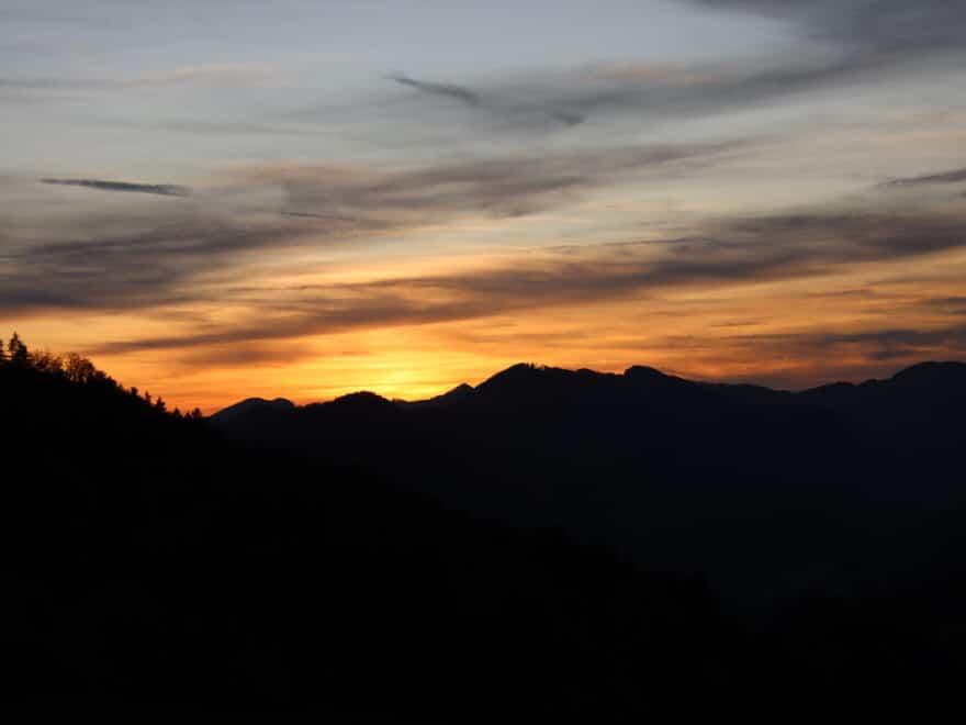 Hoch über Mümliswil Sonnenuntergang