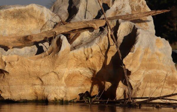 Grosser Stein im Fluss - Die Welt der Höhlenwesen