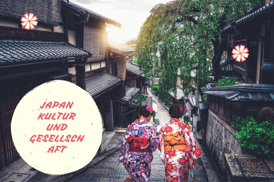 Zwei traditionelle gekleidete Frauen laufen eine Treppe hinunter - Japan Kultur und Gesellschaft