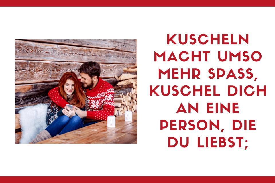 Ein Paar kuschelt sich aneinander - Kuscheln macht umso mehr Spass, kuschel dich an eine Person, die du liebst;