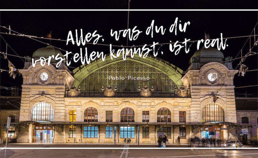 Loslassen in Corona Zeiten im Bahnhof Basel