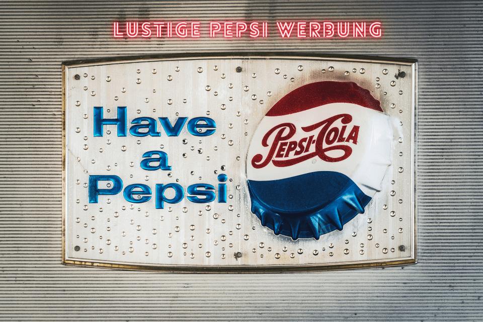 Pepsi Deckel mit der Aufschrift have a Pepsi - Lustige Pepsi Werbung