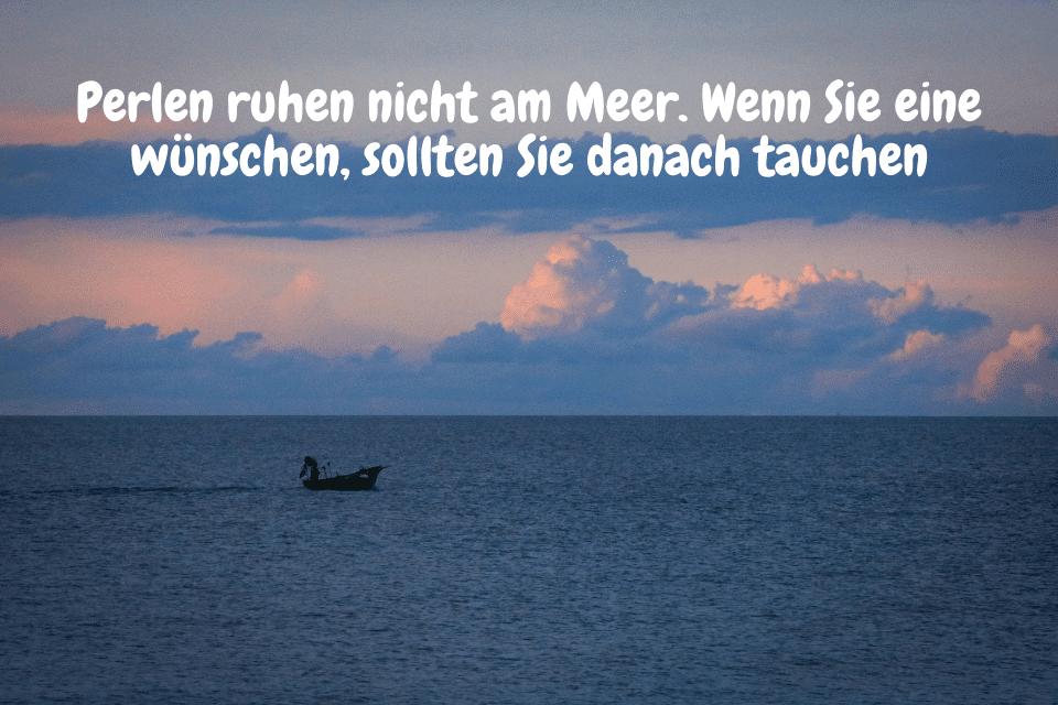 Perlentauchboot am Meer - Perlen ruhen nicht am Meer. Wenn Sie eine wünschen, sollten Sie danach tauchen