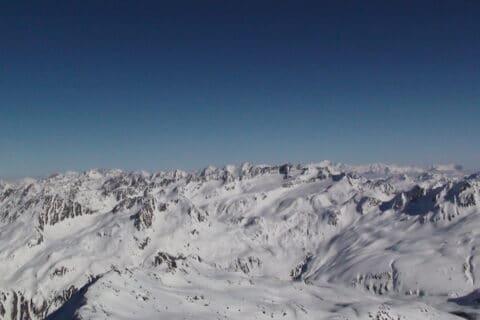 Schweizer Alpen Berge um Andermatt-Gemsstock