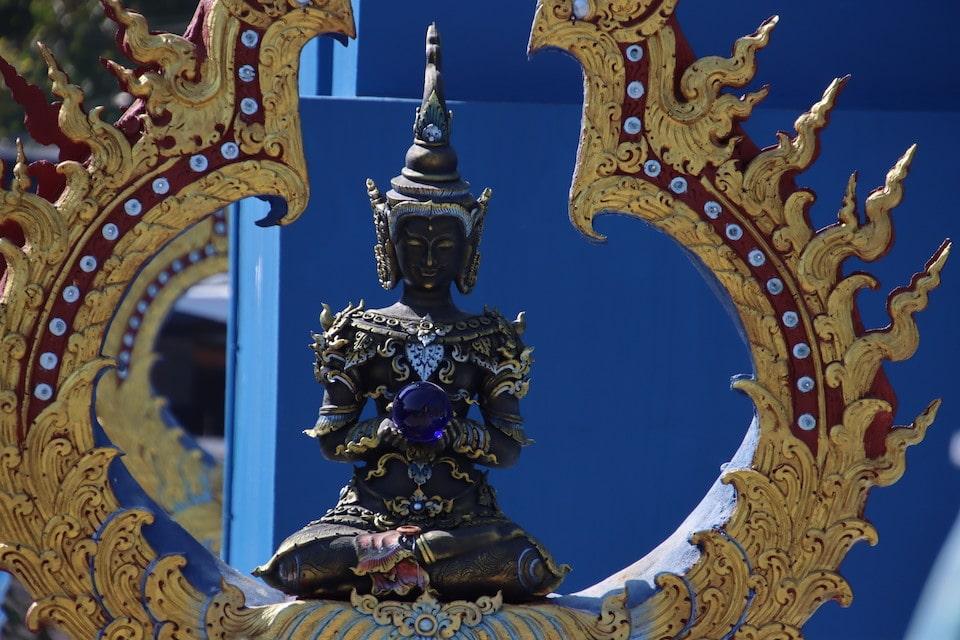 Buddha Statue blau - Selbstbewusstsein stärken