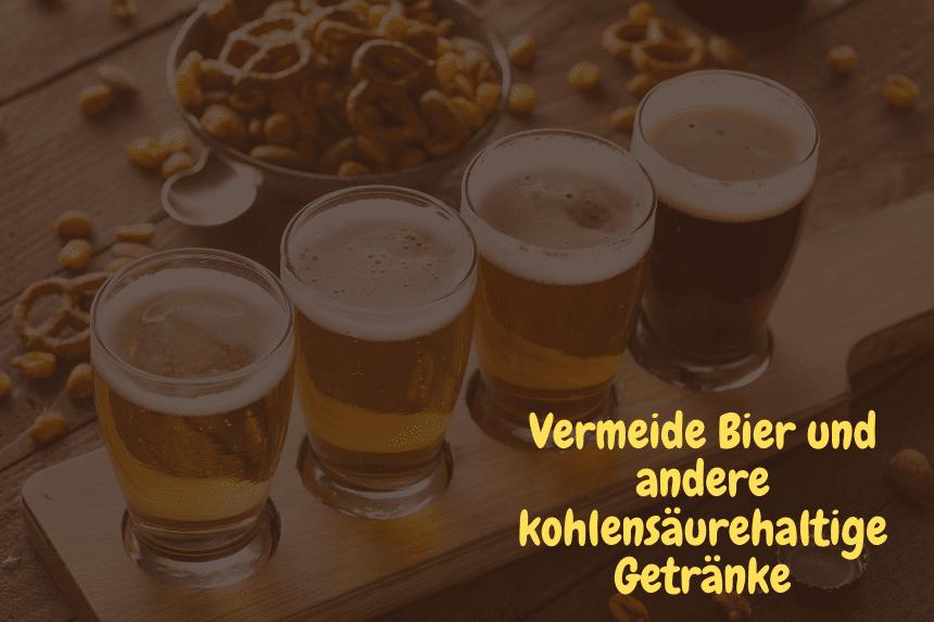 Weniger Furzen - Bild verschiedener Biere