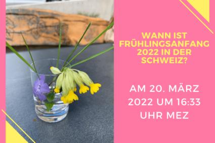 Ein schmucker kleiner Frühlingsblumenstraus - Wann ist Frühlingsanfang 2022 in der Schweiz