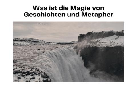Was ist die Magie von Geschichten und Metapher? Magie Wasserfall