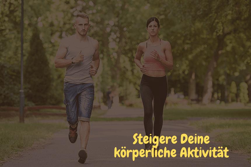 Weniger Furzen - Frau und Mann beim joggen