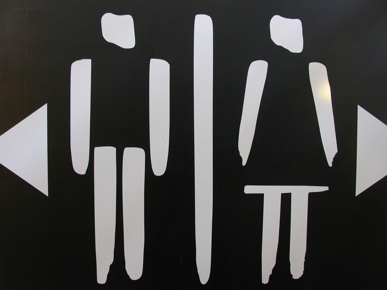 Symbol WC - Veramerikanisierung der deutschen Sprache