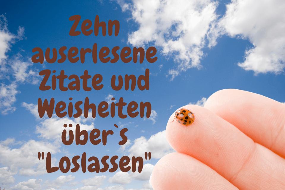 """Ein Marienkäfer auf einem Finger - Zehn auserlesene Zitate und Weisheiten über`s """"Loslassen"""""""