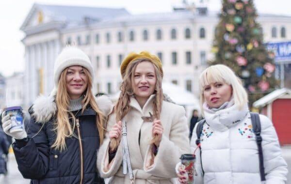 3 glückliche Frauen