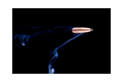 Ein Patronenschuss mit einer high Speed Kamera aufgenommen